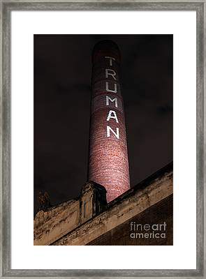 Truman Chimney In Brick Lane Framed Print by Jasna Buncic