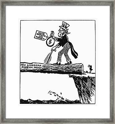 Truman Doctrine Cartoon Framed Print by Granger