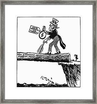 Truman Doctrine Cartoon Framed Print by Granger