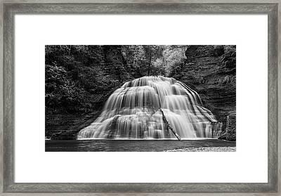 Truman Lower Falls - Bw Framed Print