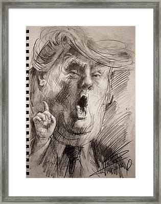 Trump A Dengerous A-hole Framed Print by Ylli Haruni
