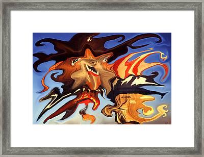 Donald Trump, The Bizarre American President - Modern Artwork Framed Print