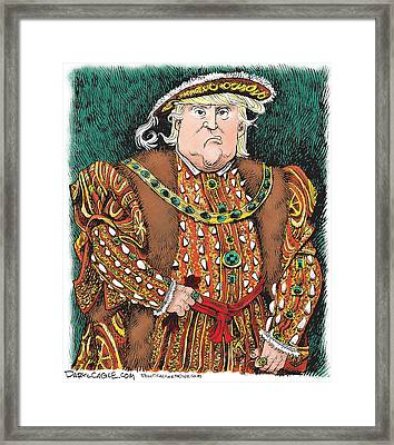 Trump As King Henry Viii Framed Print