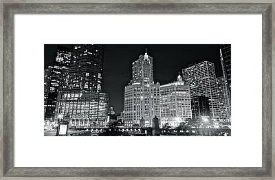 Trump Black And White Lights Framed Print by Frozen in Time Fine Art Photography