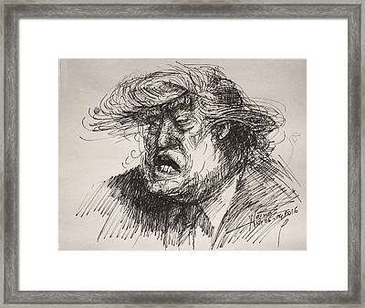 Trump Harmful Ignorant Framed Print by Ylli Haruni