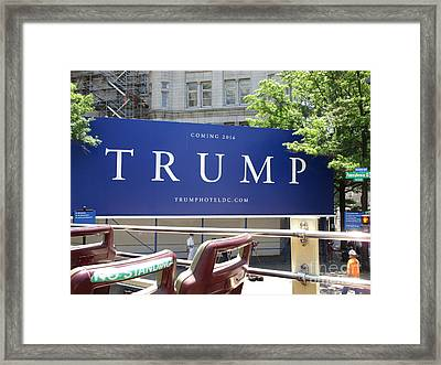 Trump Old Post Office Framed Print by Randall Weidner