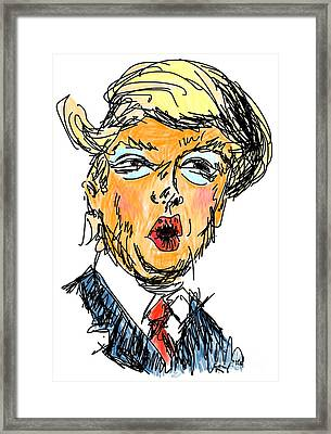 Trump Framed Print by Robert Yaeger