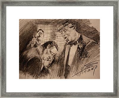Trump, Ryan, Ted, Full House  Framed Print by Ylli Haruni