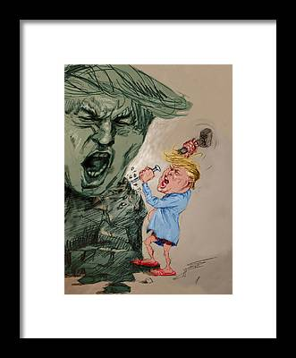 Donald Trump Framed Prints