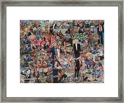 Trump Stirs Up The U.s. Elections Framed Print by Barb Greene mann
