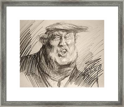Trump-the Womanizer For President Framed Print by Ylli Haruni
