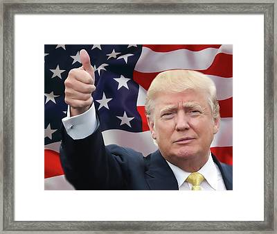 Trump Thumbs Up 2016 Framed Print