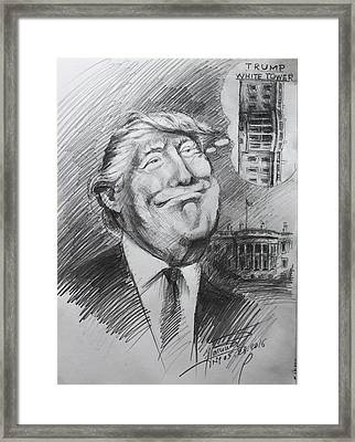 Trump White Tower  Framed Print
