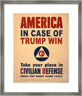 Trump Win Warning Framed Print by Edward Fielding