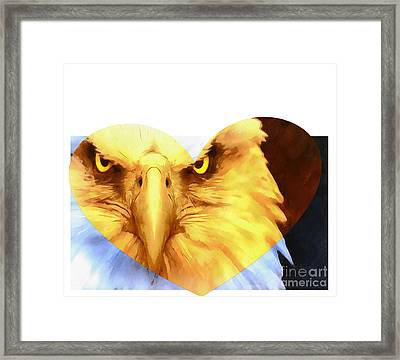 Trumped Gold On White Framed Print by Catherine Lott