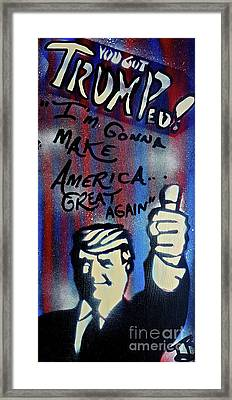Trumped Up America Framed Print by Tony B Conscious