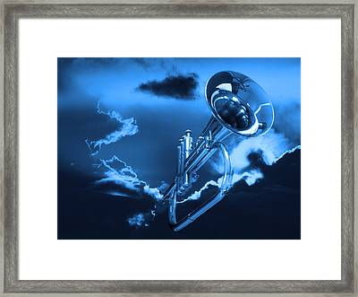 Trumpet Blues Framed Print