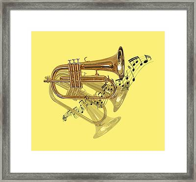 Trumpet Fanfare Framed Print