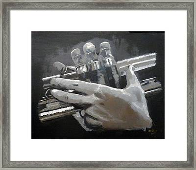 Trumpet Hands Framed Print
