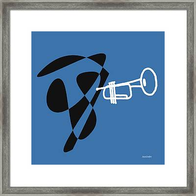 Trumpet In Blue Framed Print