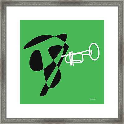 Trumpet In Green Framed Print