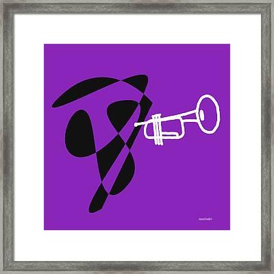 Trumpet In Purple Framed Print