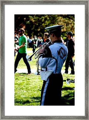 Trumpet Framed Print by Joseph Yarbrough