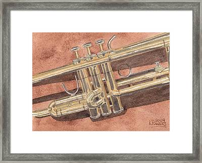 Trumpet Framed Print by Ken Powers