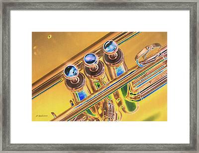 Trumpet Keys Framed Print by Pamela Williams