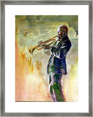 Trumpet Man Framed Print