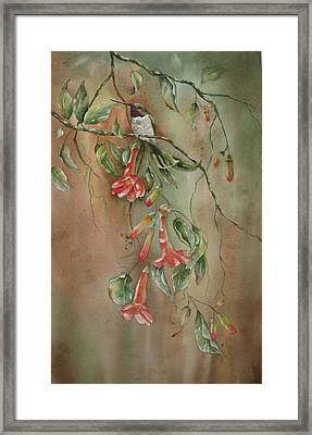 Framed Print featuring the painting Trumpet Nectar by Mary McCullah