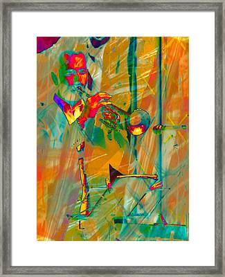 Trumpet Player Framed Print by Dorothy Berry-Lound