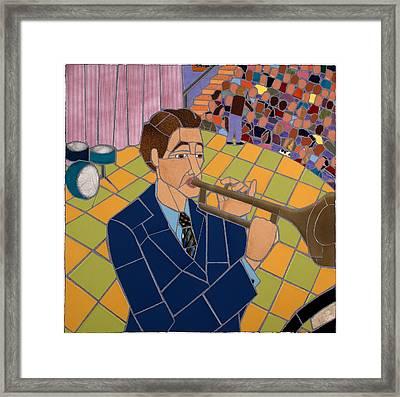Trumpet Player Framed Print by Jonathan Mandell
