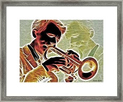 Trumpet Framed Print by Stephen Younts
