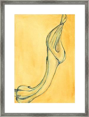 Trumpet Suspended Framed Print by Versel Reid