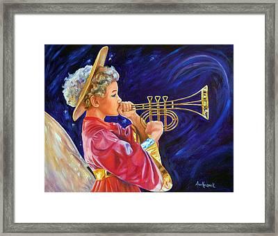 Trumpeting Angel Framed Print