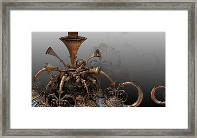 Trumpets Of Doom Framed Print by Hal Tenny