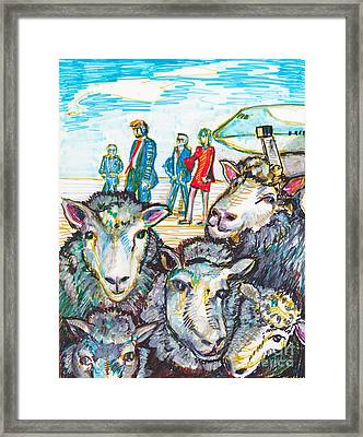 Trump,sheep And Dolly Clone Framed Print