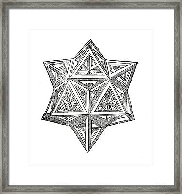 Truncated And Elevated Hexahedron With Open Faces Framed Print