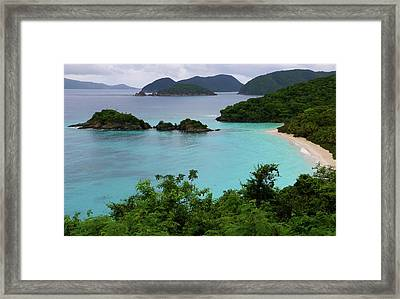 Framed Print featuring the photograph Trunk Bay At U.s. Virgin Islands National Park by Jetson Nguyen