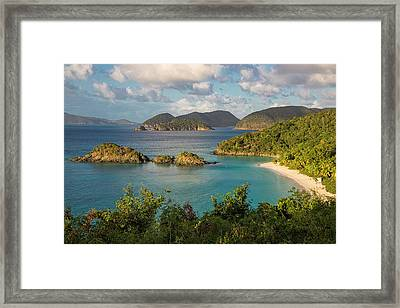 Trunk Bay Morning Framed Print by Adam Romanowicz