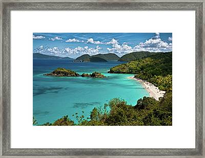Trunk Bay Overlook Framed Print