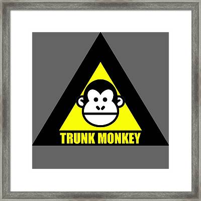 Trunk Monkey Framed Print