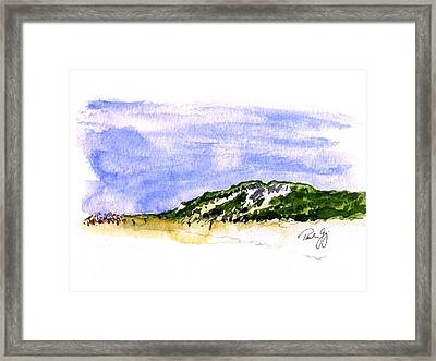 Truro Beach Cape Cod Framed Print