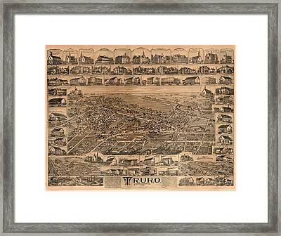 Truro Nova Scotia 1889 Framed Print by Mountain Dreams