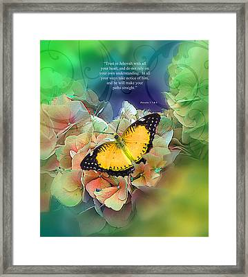 Trust And Life Framed Print by Pamela  Jessiman