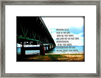 Trust In The Lord Framed Print by Elizabeth Babler