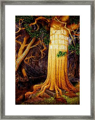 Trust In The Lord Framed Print by Graham Braddock