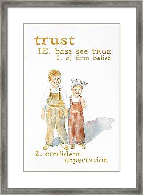 Trust Framed Print by Janice Crow