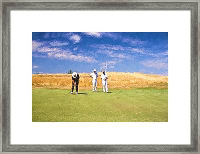 Trust The Line Framed Print by Scott Pellegrin